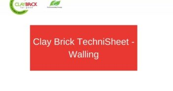 Clay Brick TechniSheet - Walling